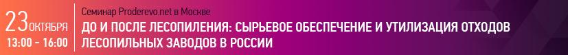 Семинар: До и после лесопиления: сырьевое обеспечение и утилизация отходов лесопильных заводов в России